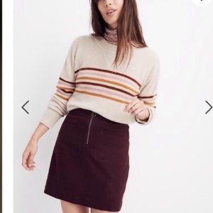 Madewell fireside mini skirt , sz 20